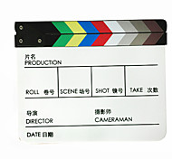 Movie / TV Film Director's Acrylic Handmade Clapperboard film slate - Colorful Chinese&English