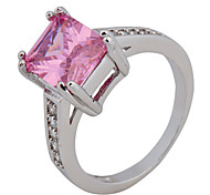 Size 6/7/8/9/10 High Quality Women Pink Sapphire Rings 10KT White Gold Filled Ring
