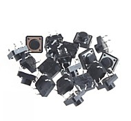 12x12x7mm Micro Switch Button Touch Switch Small Key-Press Switch(20Pcs)