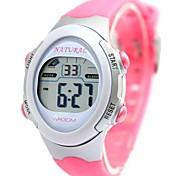 Women's Fashion Elliptic Plastic Band Digital Watch (Assorted Colors)