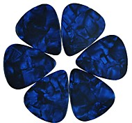 Medium 0.71mm Guitar Picks Plectrums Celluloid Pearl Blue 100Pcs-Pack