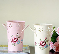 """7.1 """"h estilo rural vaso de flor de ferro multicolor opcional"""