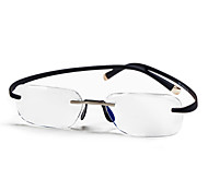 [Free Lenses] Rectangle Rimless Lightweight Reading Glasses