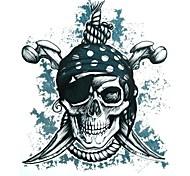 Outros - Yimei - Tatuagem Adesiva - Tamanho Grande/Waterproof - para Feminino/Masculino/Adulto/Adolescente - de Papel - Preta - 34.2cm*22.5cm 1