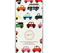 Fashion Cartoon Painted Color Car PC Back Cover for Sony Xperia Z3