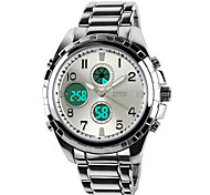 SKMEI Мужской Армейские часы LCD Календарь Секундомер Защита от влаги С двумя часовыми поясами тревога Кварцевый Японский кварц