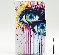 Magic Eye Pattern PU Leather Case Cover with A Touch Pen ,Stand and Card Holder for Nokia Lumia 530