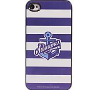 caso duro di alluminio di disegno blu di ancoraggio per iphone 4 / 4s