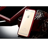 Luphie No Screw Aluminium Metal Bumper with Transparent PC Back Cover for iPhone 6 (Assorted Colors)