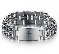Novelty Silver Metal Men's Retro Punk Rock  Fashion Men's Bracelet