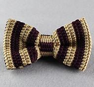 Gravata Borboleta (de Roupa de Malha , Branco/Azul/Verde/Marrom/Vermelho/Preto) - Vintage/Pesta/Trabalho/Casual
