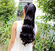 High-Temperature Wire Wig Korea Beautiful Pear Fluffy Ponytail Scroll 50CM