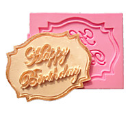 buon compleanno Cupcake stampi torta carta fondente decorazione della muffa del cioccolato per la cottura della cucina per lo zucchero