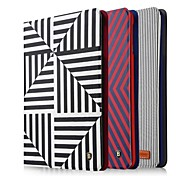360⁰ Cases/Couvertures intelligents/Cas Folio ( Cuir PU , Rouge/Noir/Bleu ) -Art graphique/Couleur mixte/Motif carreaux/Design