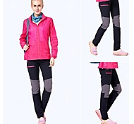 Outdoors Women's Nylon Red Orange and Black Colors Quick-drying Pants