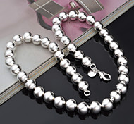 Necklace Chain Necklaces Jewelry Party / Casual Fashionable Silver / Sterling Silver Silver 1pc Gift