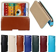 New Genuine Belt Clip Pouch Crazy Horse Leather Phone Case Cover for Samsung Galaxy Note 3(Assorted Colors)
