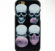 Skull Blowing Bubbles Pattern Case for iPhone 6