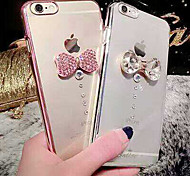 Simple Fashion Bowknot Rhinestone Design PC and Electroplate Hard Back Case Cover for iPhone 6(Assorted Colors)