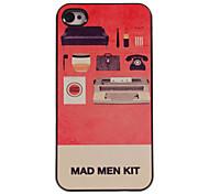 caso duro di alluminio di disegno kit pazzo per iphone 4 / 4s