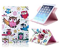 New Owl Pattern PU Leather Full Body Case with Card Slot and Stand for Apple iPad 2/3/4