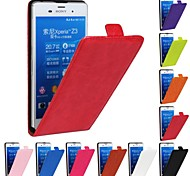 Genuine Crazy Horse PU Leather Slim Light Flip Case Cover for SONY Xperia Z3 (Assorted Colors)