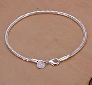 3m Snake Shape 925 Silver Bracelet (1PC)