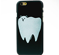 Big Tooth Style White Beer Pattern Hard Case for iPhone 6