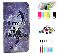 Silver and Children Pattern Full Body Case with Stylus ,Anti-Dust Plug and Stand for LG L70