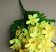 Set of 5 Fabric Dasies Yellow Color