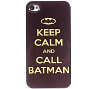 Keep Calm And Call Batman Design Aluminum Hard Case for iPhone 4/4S
