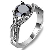 Size 6/7/8/9/10 High Quality Women Black  Sapphire Rings 10KT Black Gold Filled Ring