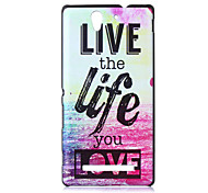 Beautiful Life Pattern PC Hard Case for Sony C3