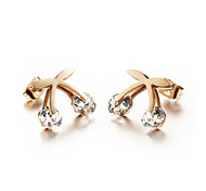 Exquisite Gift X AAA Zircon Ms 18K Gold Earrings