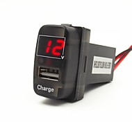 Special 5V 2.1A USB Interface Socket Car Charger and Voltmeter Use For Mitsubishi