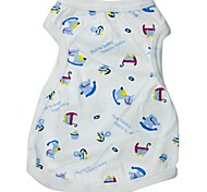 Colorful Horse Pattern Cotton White Vest for Pets Dogs (Assorted Sizes)