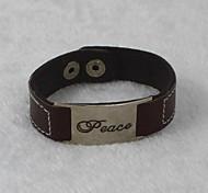 Alloy/Leather Bracelet Leather Bracelets Daily/Casual 1pc