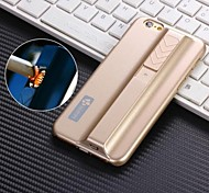 Côr Sólida/Design Especial/Novidade - iPhone 6 Plus - Cases Totais (Preto/Azul/Rosa/Cinzento/Dourado/Prateado , Plástico)