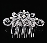 Flashion Charming Wedding Party Bride Flower Austria Crystal Silver Combs Hair Accessories