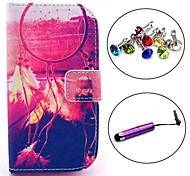 Dusk Dream catcher Pattern PU Leather Case with Stylus and Dust Plug for Samsung Galaxy Trend Lite S7390/S7392