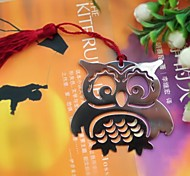 Owl Shaped Tassel Metal Bookmark