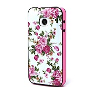2-in-1  Pink Rose Peony Pattern TPU Back Cover with PC Bumper Shockproof Soft Case for Huawei Y330/Y330-C00