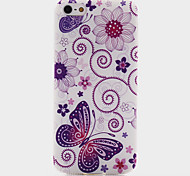 Butterfly Pattern Soft TPU Case for iPhone 5/5S