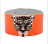 Tina -- Fashion Alloy Leopard Personality Leather Bracelet in Party