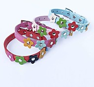 Red/Blue/Pink/Rose Retractable/Cosplay PU Leather Collars For Dogs/Cats