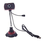 Computer camera USB 2.0 Hose adjustable 4 Led + microphone+ taking pictures Sucker Base Red