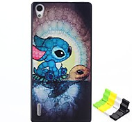 Tortoise Pattern PC Hard Case and Phone Holder for Huawei P7