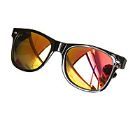 Mirrored Wayfarer Acrylic Retro Sunglasses