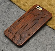 Wood Abstract Style Carving Concavo Convex Hard Back Cover for iPhone 6s/iPhone 6