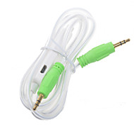 1.2M 3.5mm Male to Male Extension Audio Connection Lighting Cable Random Color